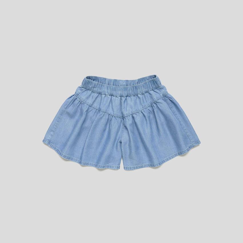 Φούστα παντελόνι από chambray