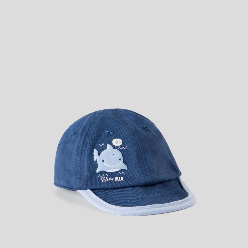 Air force blue cap with visor