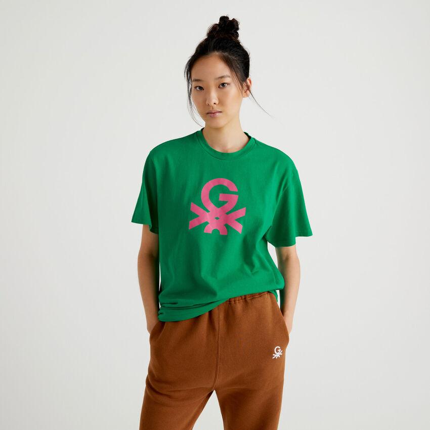T-shirt unisex πράσινο με λογότυπο by Ghali