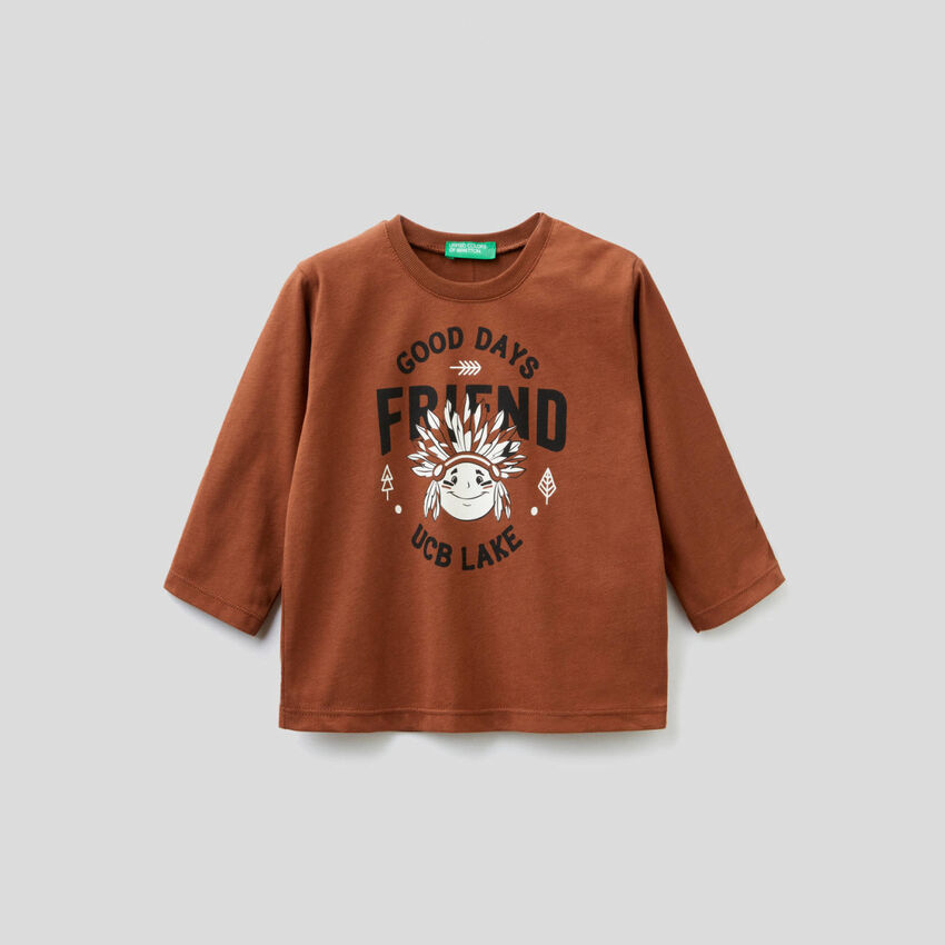 T-shirt από οργανικό βαμβακερό με τύπωμα