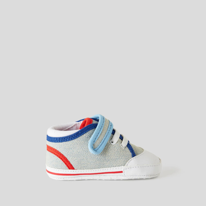 Multicolor first steps sneakers