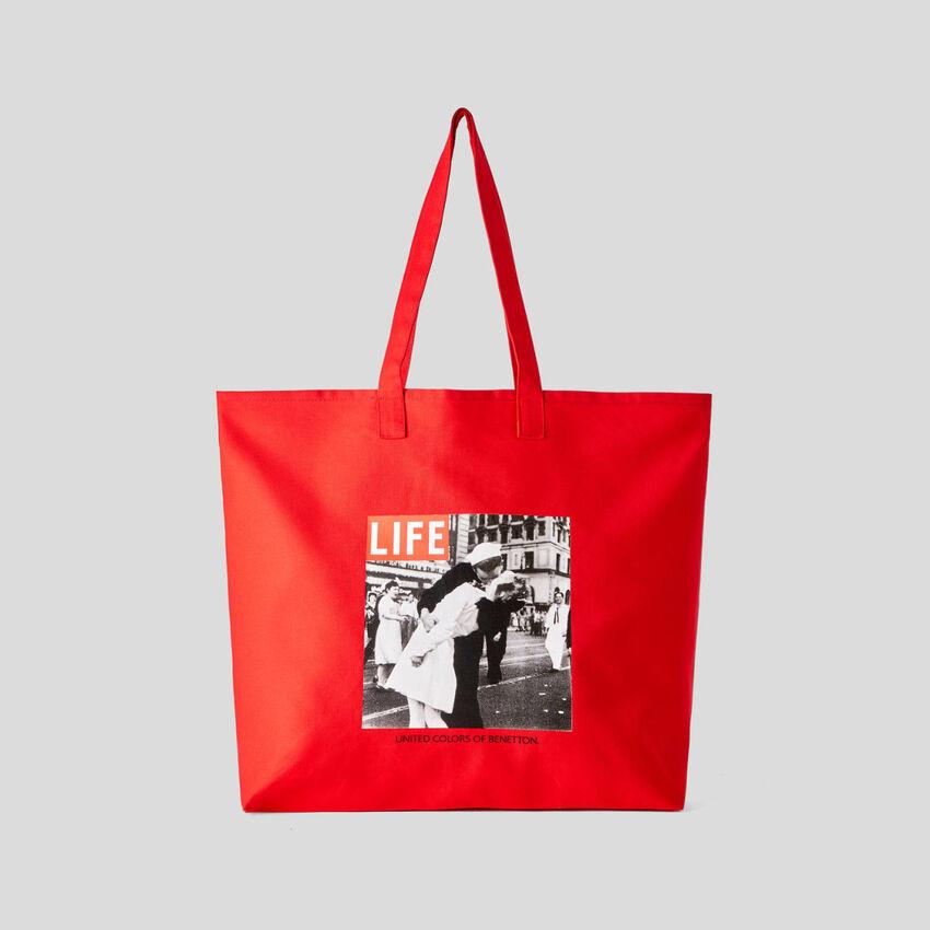 Shopping bag Life από οργανικό βαμβακερό