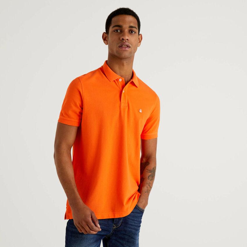 Πόλο πορτοκαλί regular fit εξατομικευμένο