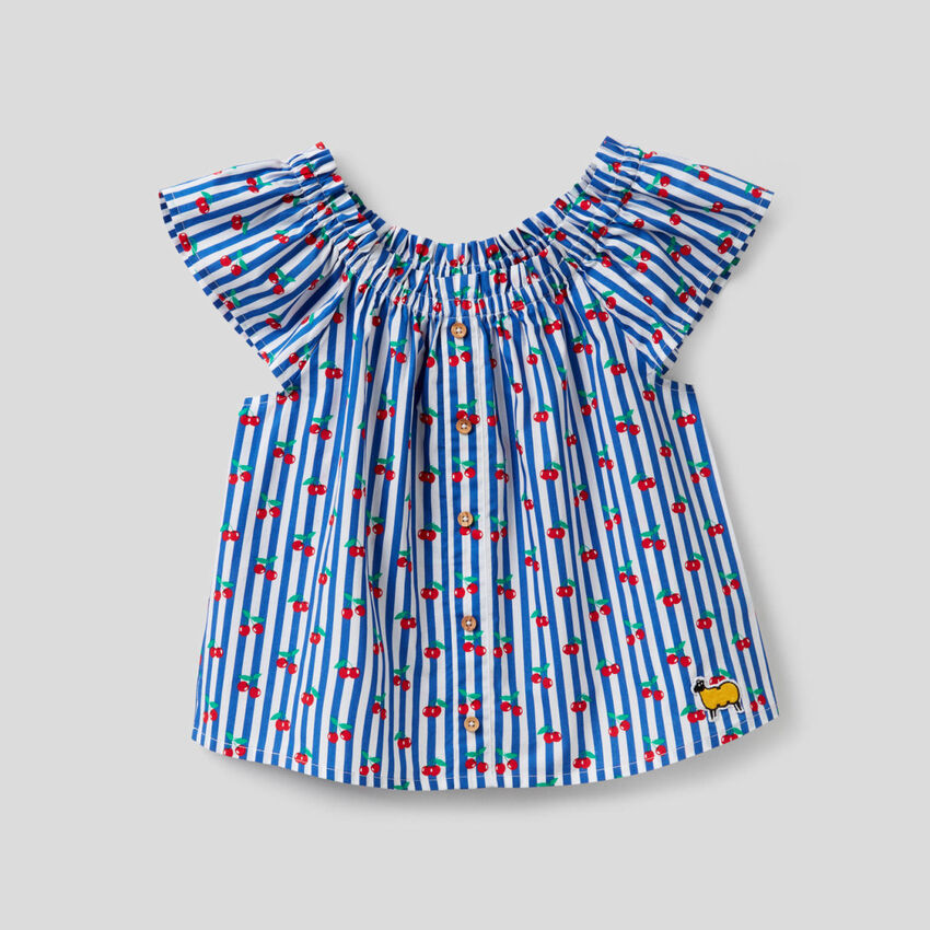 Printed blouse in 100% cotton