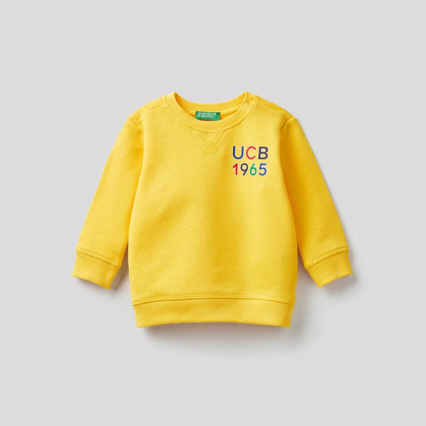 Organic cotton sweatshirt with print