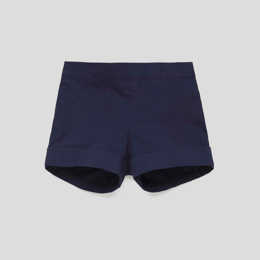 Shorts with cuffs