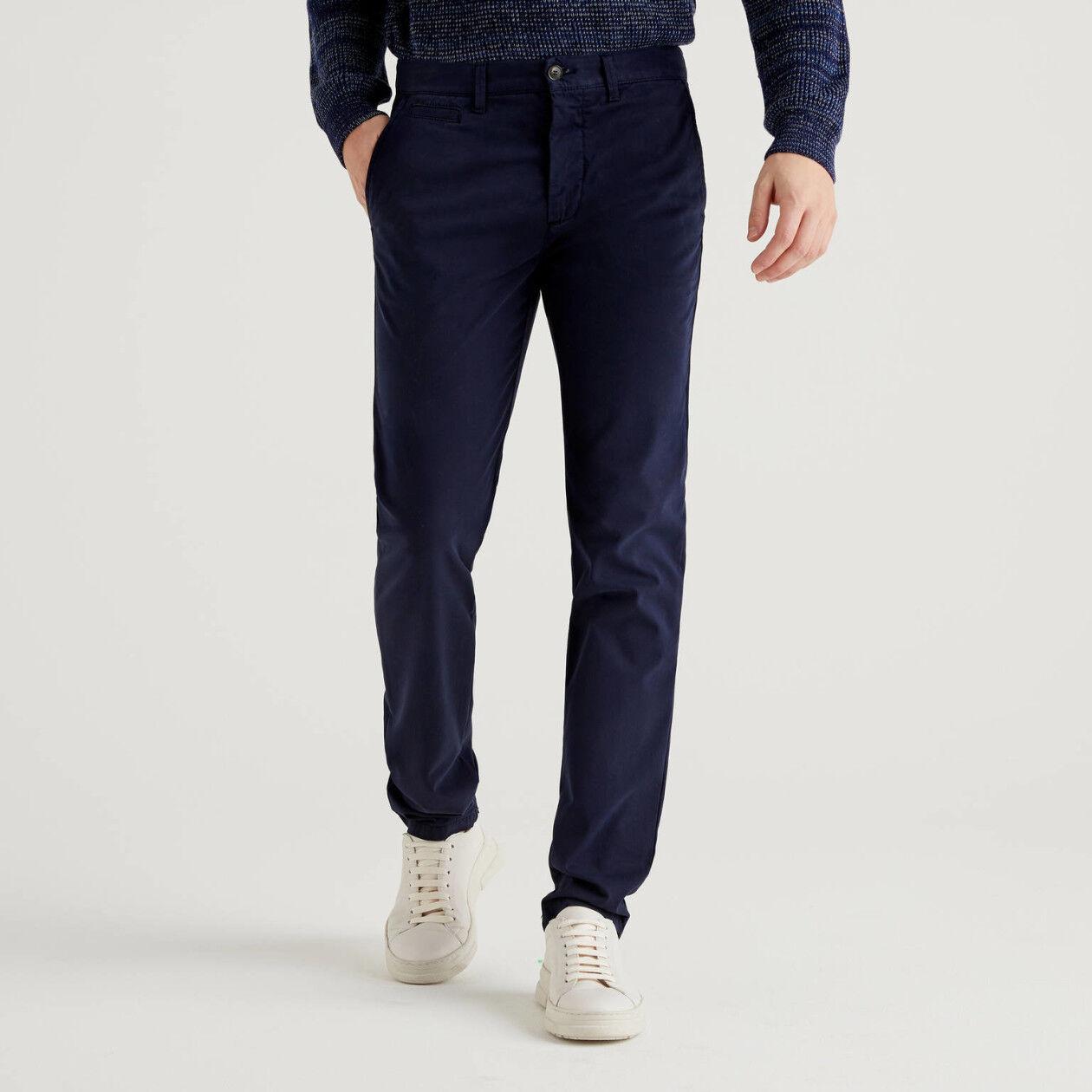 Chino slim fit μπλε σκούρο