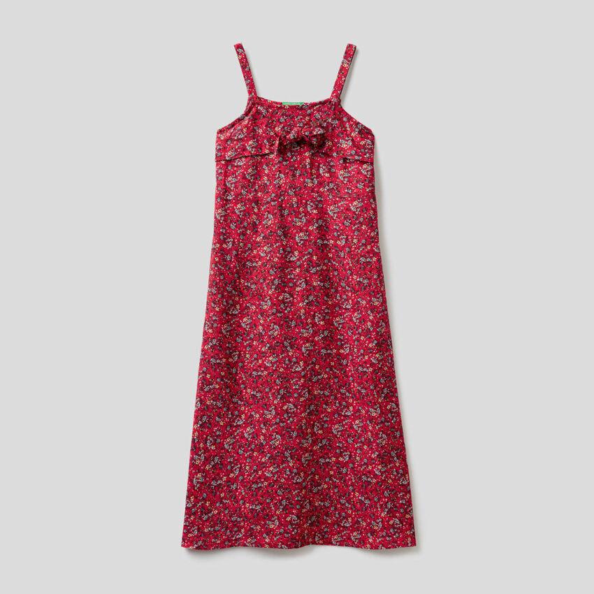 Φόρεμα μακρύ με floral τύπωμα