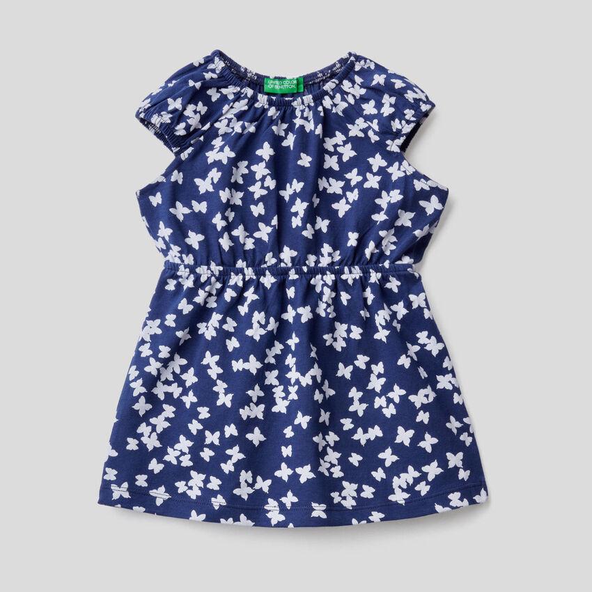 Φόρεμα με τύπωμα από αγνό βαμβακερό