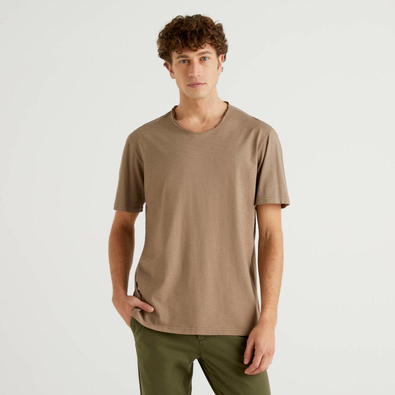 T-shirt dove grey από αγνό βαμβακερό