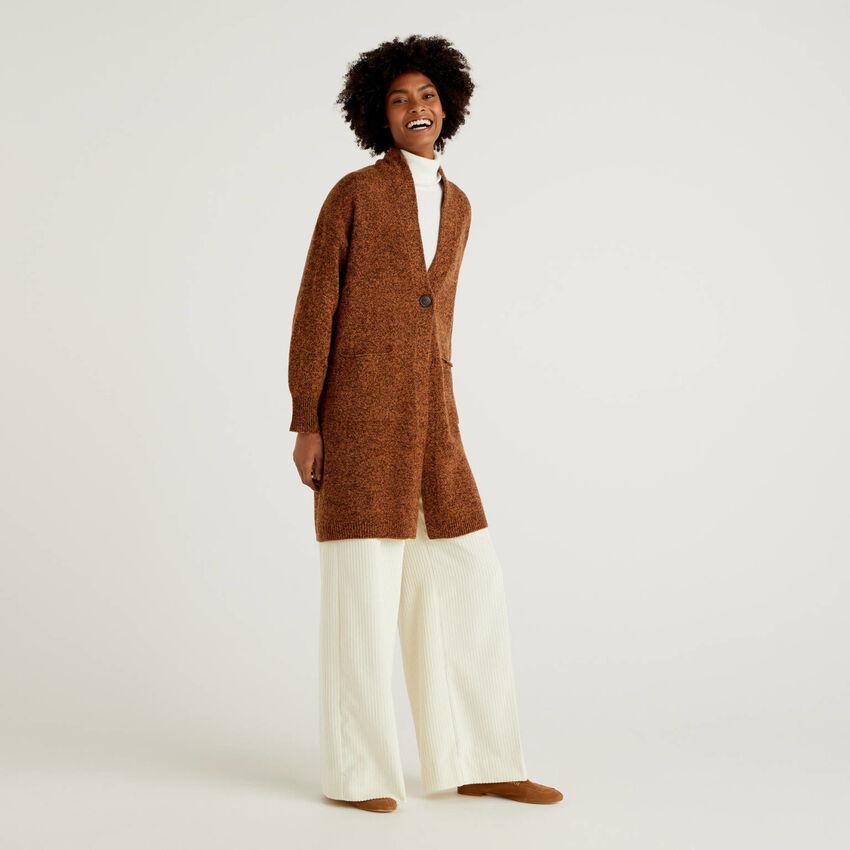 Παλτό από αγνό μαλλί Shetland
