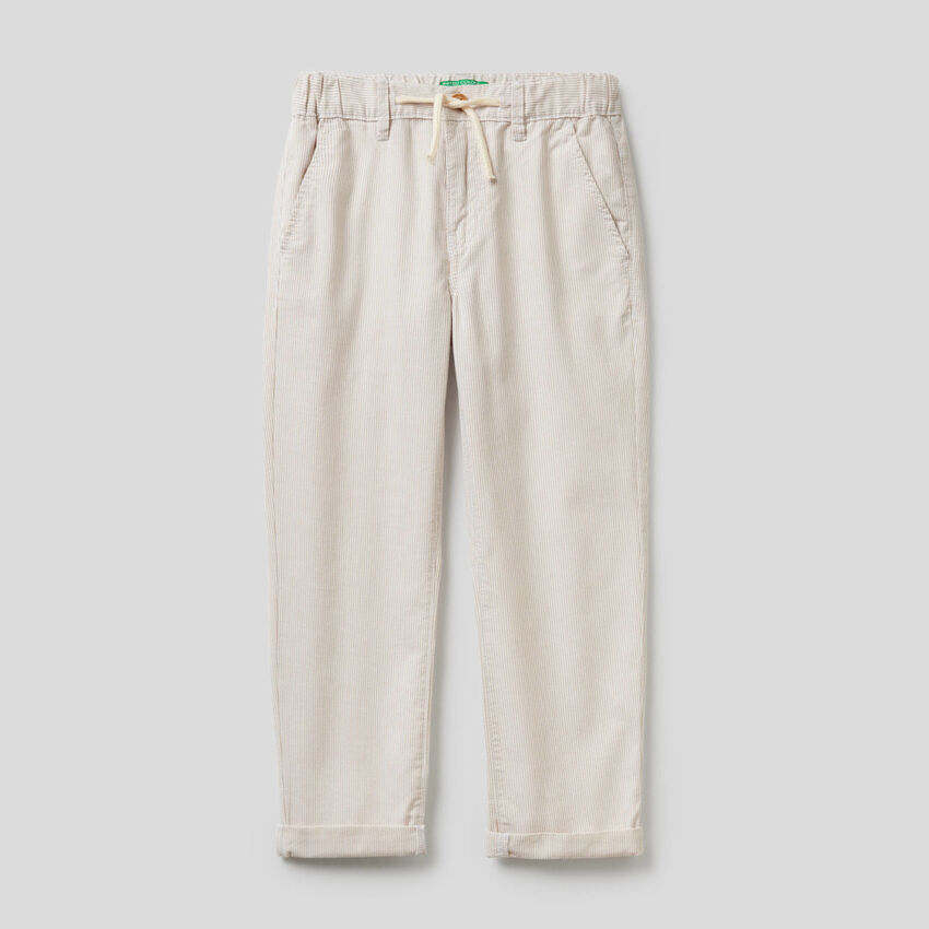 Παντελόνι ριγέ από 100% βαμβακερό