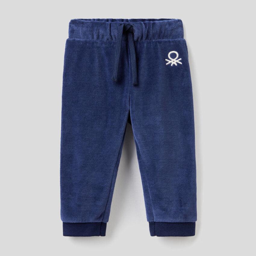 Παντελόνι από σενίλ με λογότυπο