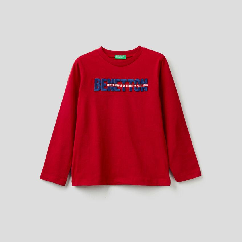 T-shirt μακρυμάνικο από 100% οργανικό βαμβακερό