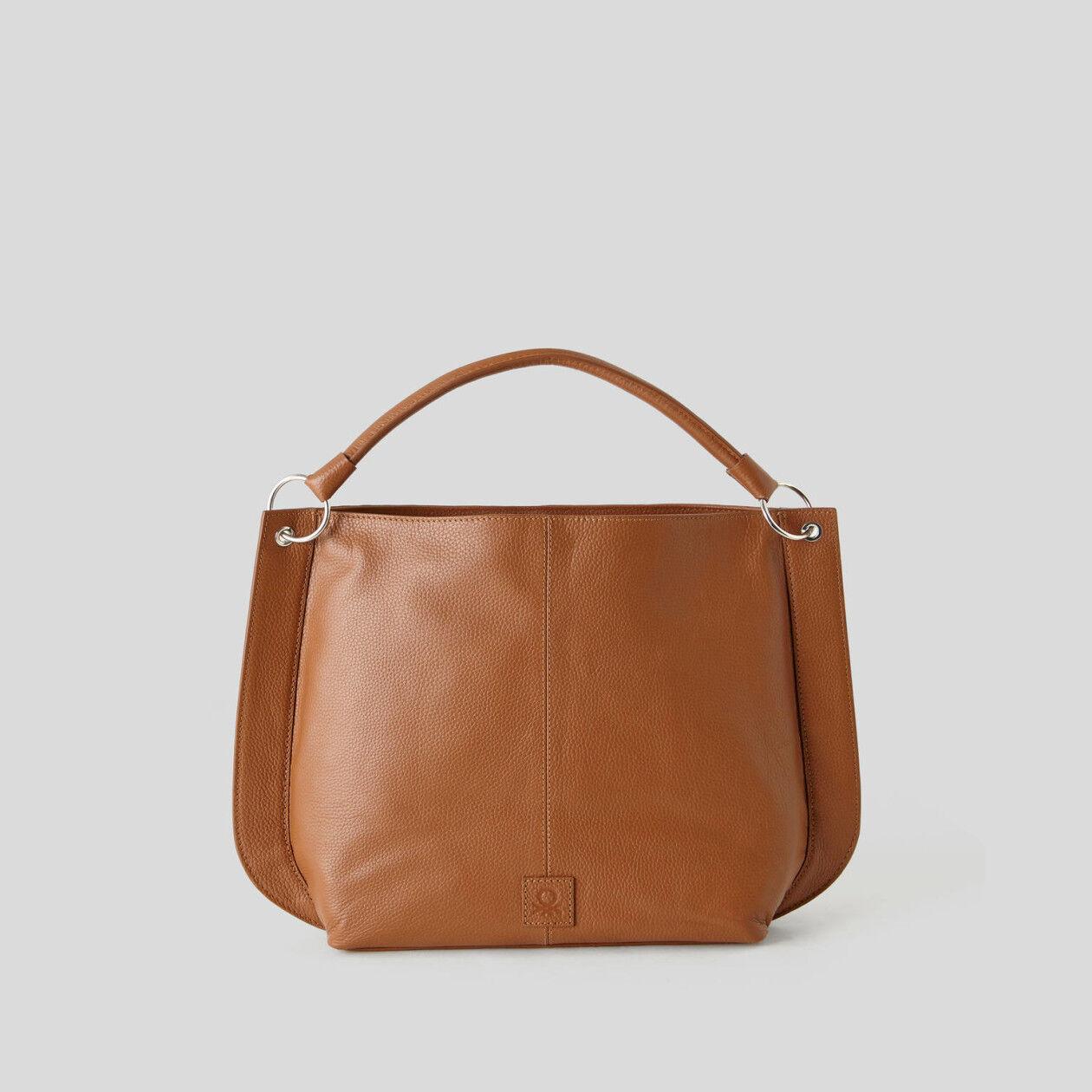 Τσάντα hobo από γνήσιο δέρμα