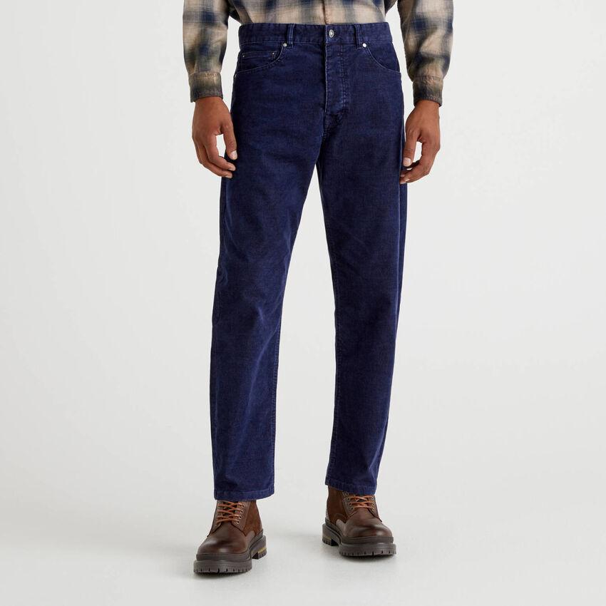 Παντελόνι με πέντε τσέπες από βελούδο