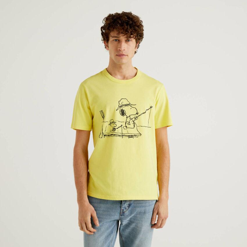 T-shirt Peanuts κίτρινο