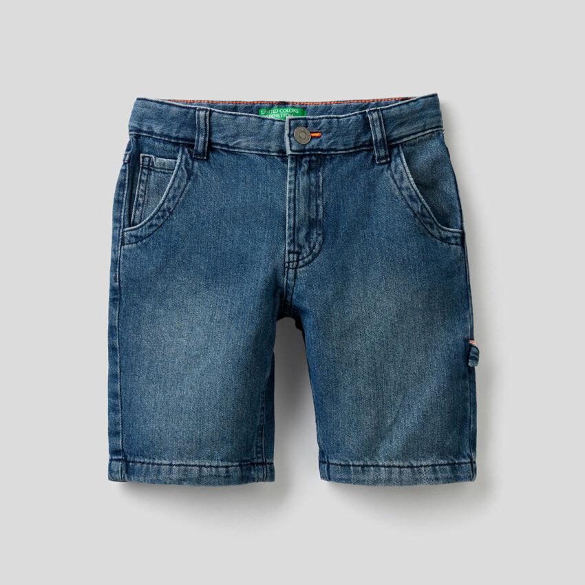 Παντελόνι κοντό denim από 100% βαμβακερό