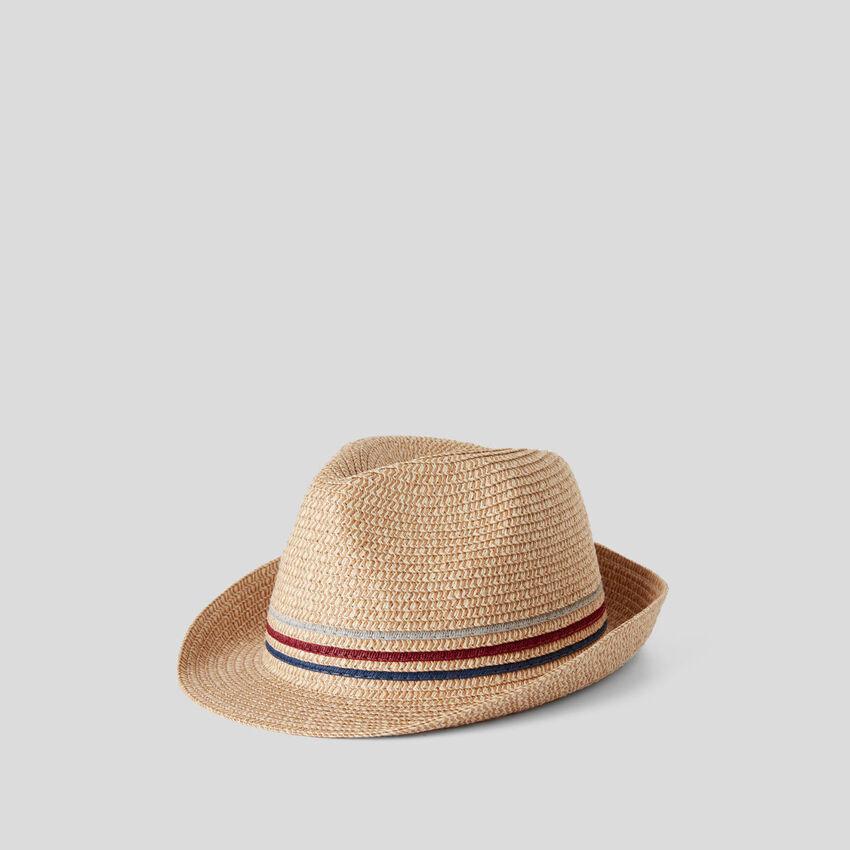 Καπέλο εφέ ψάθινο
