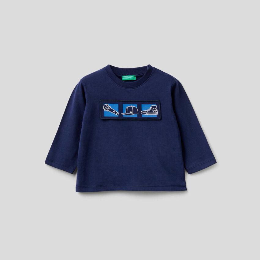 T-shirt από οργανικό βαμβακερό με διακοσμητικό
