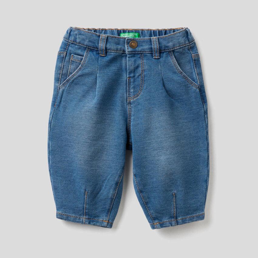 Παντελόνι slouchy εφέ denim