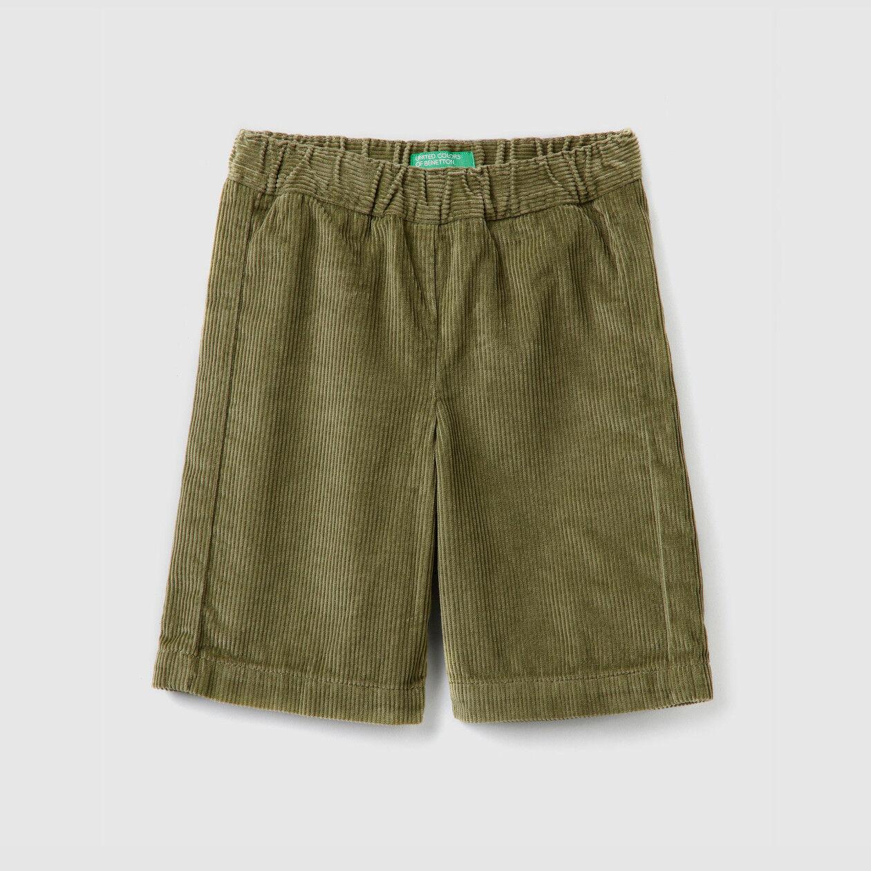 Παντελόνι cropped από βελούδο