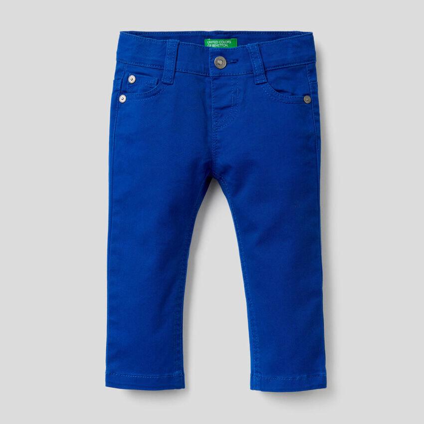 Παντελόνι slim fit από βαμβακερό stretch