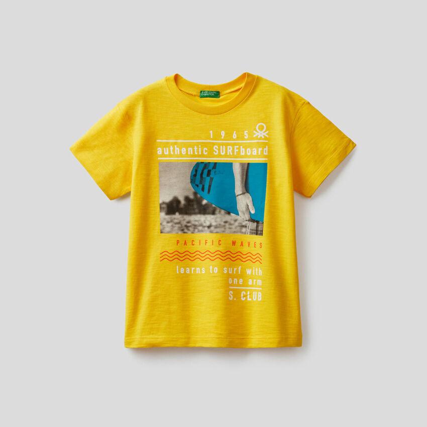 T-shirt από βαμβακερό με τύπωμα surf