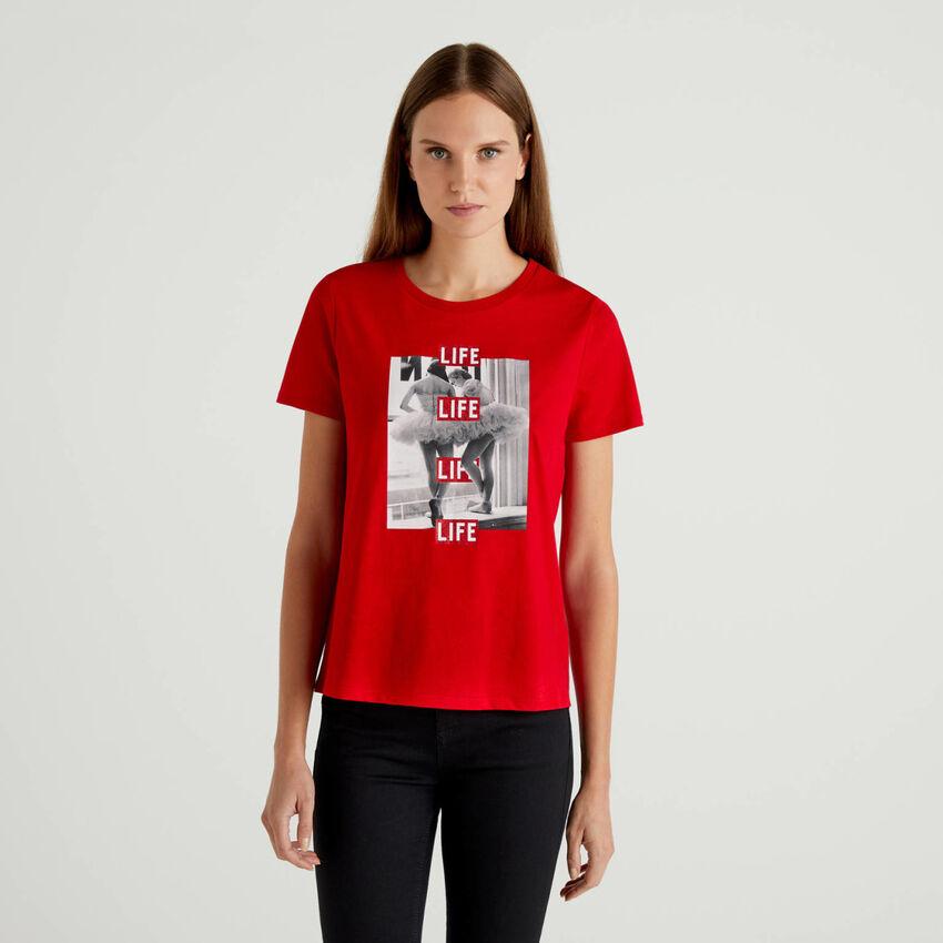 T-shirt Life από 100% οργανικό βαμβακερό