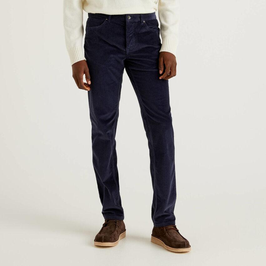 Παντελόνι από βελούδο ριγέ