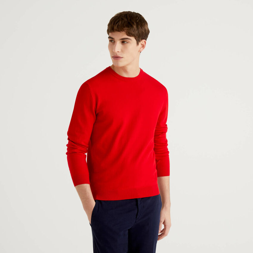 Μπλούζα με λαιμόκοψη από 100% βαμβακερό