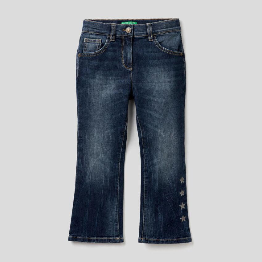 Παντελόνι εβαζέ από βαμβακερό stretch