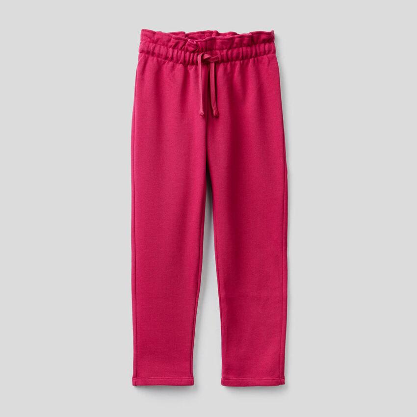 Παντελόνι φούτερ με μέση με σούρα