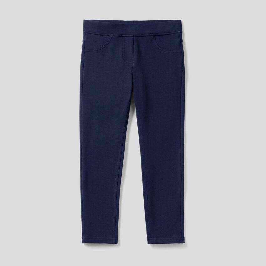 Παντελόνι super skinny φούτερ