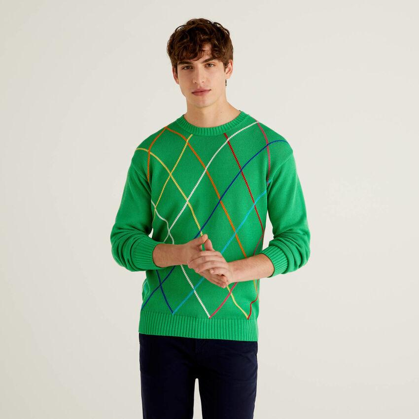 Μπλούζα με πολύχρωμους ρόμβους