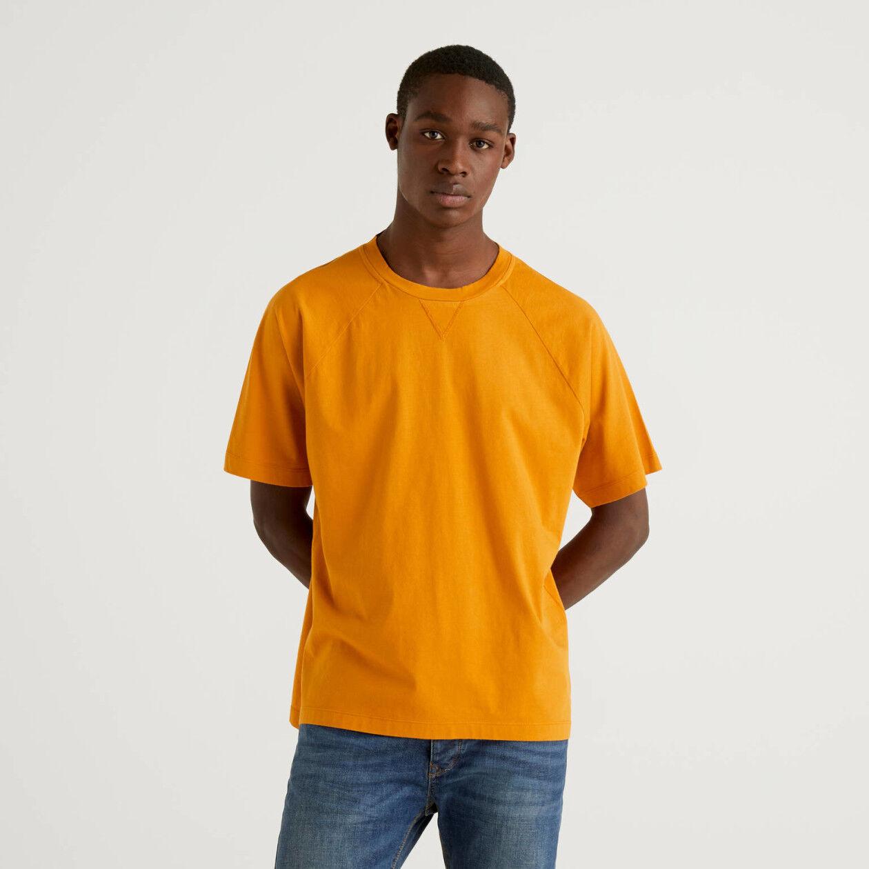 T-shirt 100% βαμβακερό με μανίκια ρεγκλάν