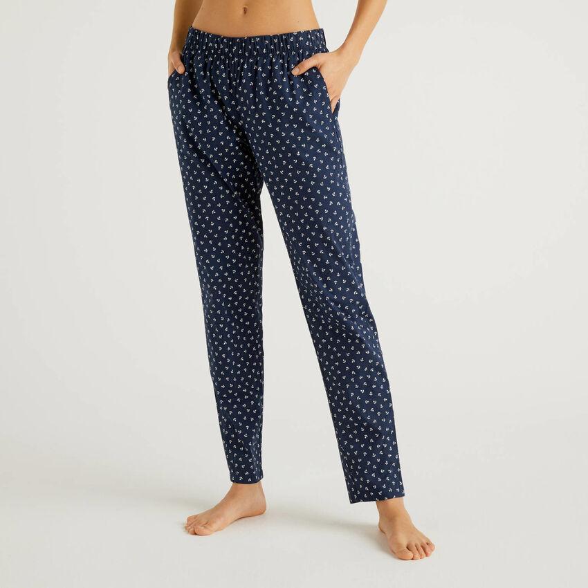 Παντελόνι με σχέδια από αγνό βαμβακερό
