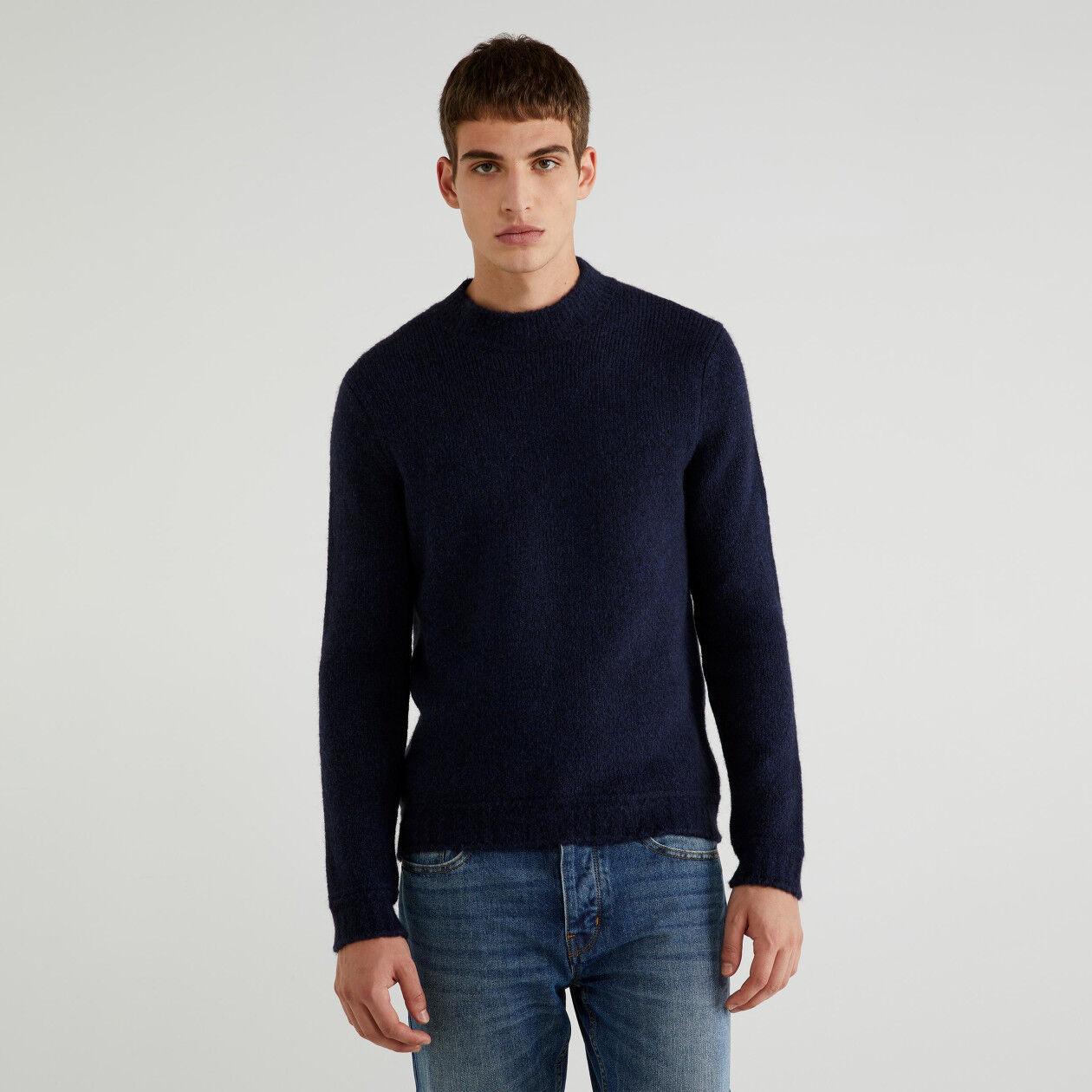 Μπλούζα από βαμβακερό και μάλλινο